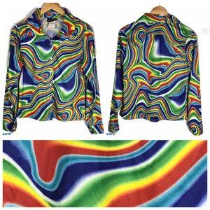 Vintage Psychedelic Rainbow Tie Die Shirt Hippy